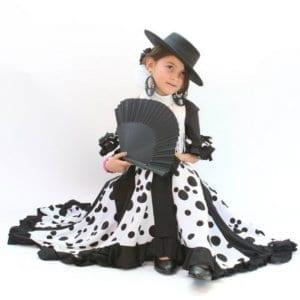 Jupe fillette de flamenco