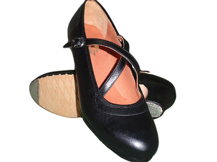 Chaussure de Flamenco double bride cuir