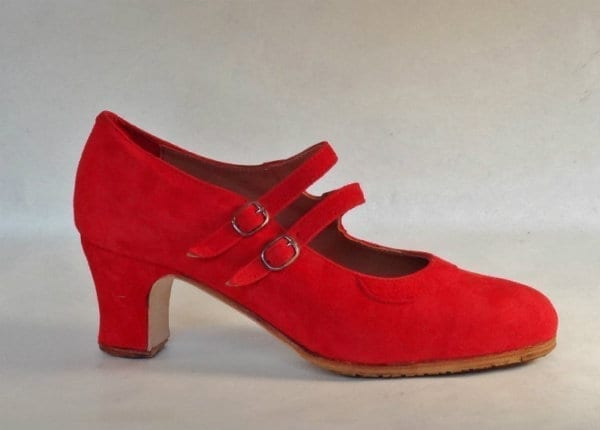 Chaussure de Flamenco en daim croissée