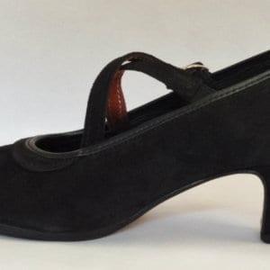 Chaussure de flamenco en daim noir