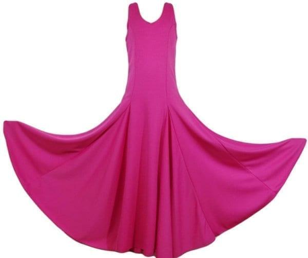 Robe flamenco de travail pour fillette en fucshia