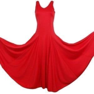 Robe Flamenco de travail rouge pour fillette