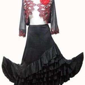 jupe de flamenco 4 volants